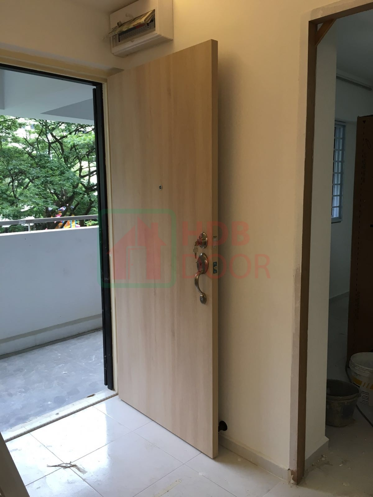 Veneer Solid Main Wooden Door Single Leaf 3x7 Feet