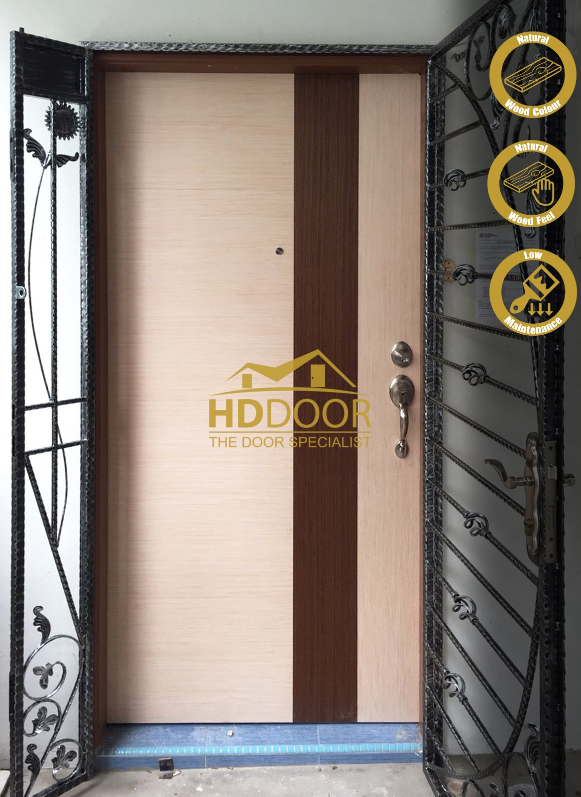 veneer solid main door firerated maindoor