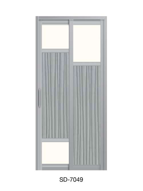 PVC Slide & Swing Toilet Door SD-7049