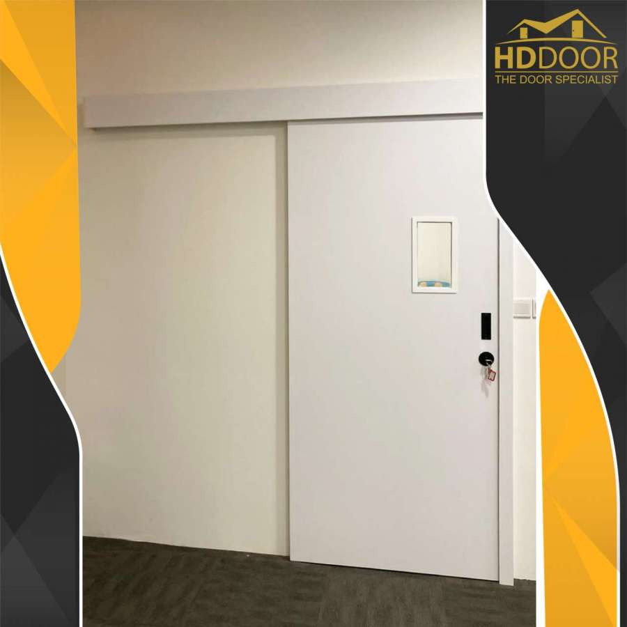 Sliding Laminate Door with Vision Panel